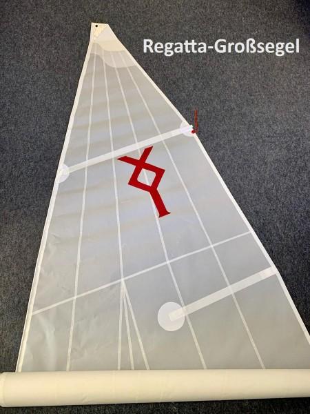 Regatta-Großsegel 8,8 m² mit Segellatten und Klassenzeichen