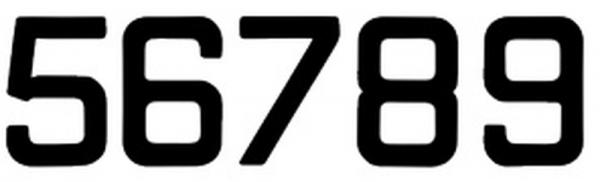 Satz Segelzahlen (8 Stück) - nach ISAF-Norm 300mm hoch, schwarz