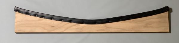 Holzauflage für Alu-Slipwagen mit Gummi
