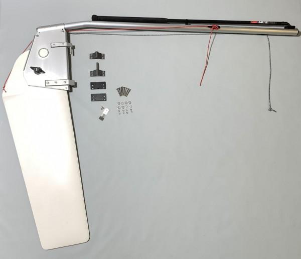 Ruderanlage Ruder Ixylon komplett mit Spiegelbeschlägen